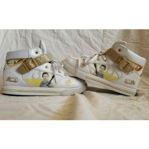 Disney Star Wars Rey High Top Sneakers White Gold